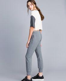Pantalon de jogging en molleton Gris moyen chiné Femme IA85SS-01