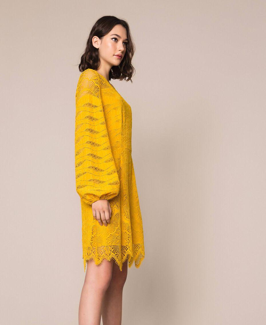 Robe en dentelle macramé Griotte Femme 201TP2031-02
