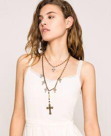 Sautoir avec croix et pendentif Noir Diamant Femme 201TO5305-0S
