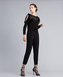 Georgette jogging trousers Black Woman PA82HK-01