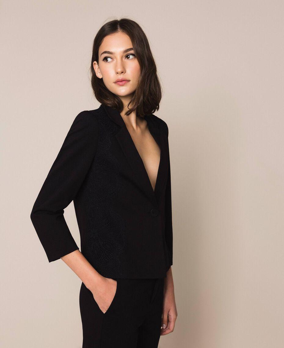 Lace blazer Black Woman 201TP212B-02