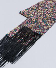 """Foulard aus Viskose mit Blumenprint Print """"Mikroblumen"""" mehrfarbig Frau AA8P16-02"""