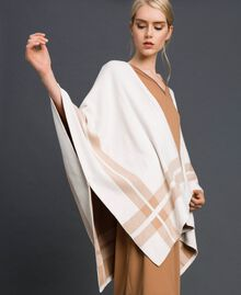 Reversible knit cape Cream / Nude Beige Woman 192LI3ZBB-01