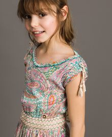 Muslin dress with paisley print Paisley Print Child 191GJ2510-04