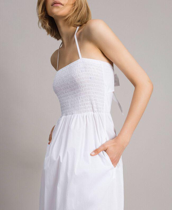 """Robe longue en popeline """"Jus d'Orange"""" Femme 191LM2CHH-03"""