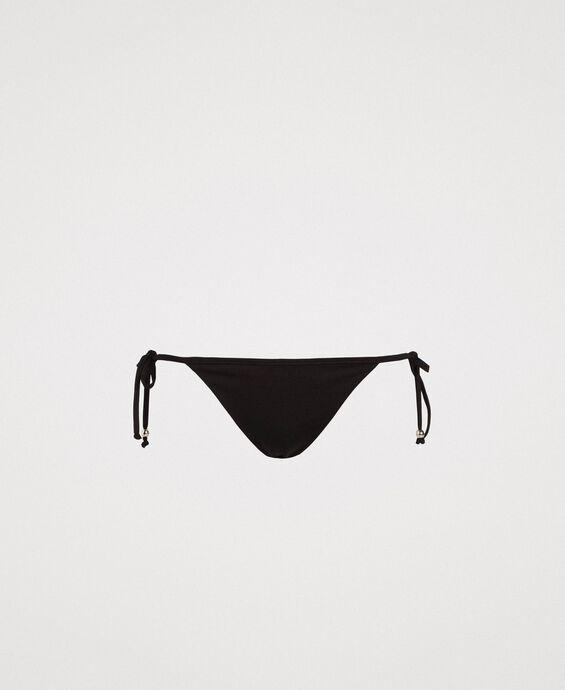 Bas de bikini brésilien avec lacets
