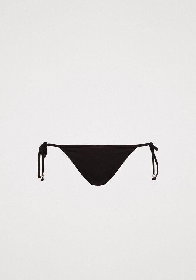 Brazilian bikini bottom with tie laces