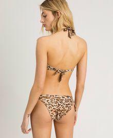 """Bügel-Bikinitop mit Blumenprint Motiv Tiere """"Petra Sandstone"""" Braun Frau 191LMMU55-03"""