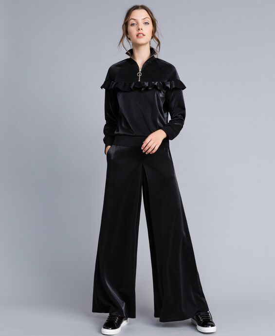 Pantaloni palazzo in tessuto tecnico