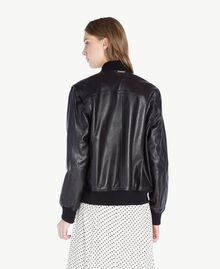 Leather jacket Black Woman PS82DA-03