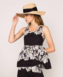 Wide brim straw hat Straw Woman 201TO5400-0S