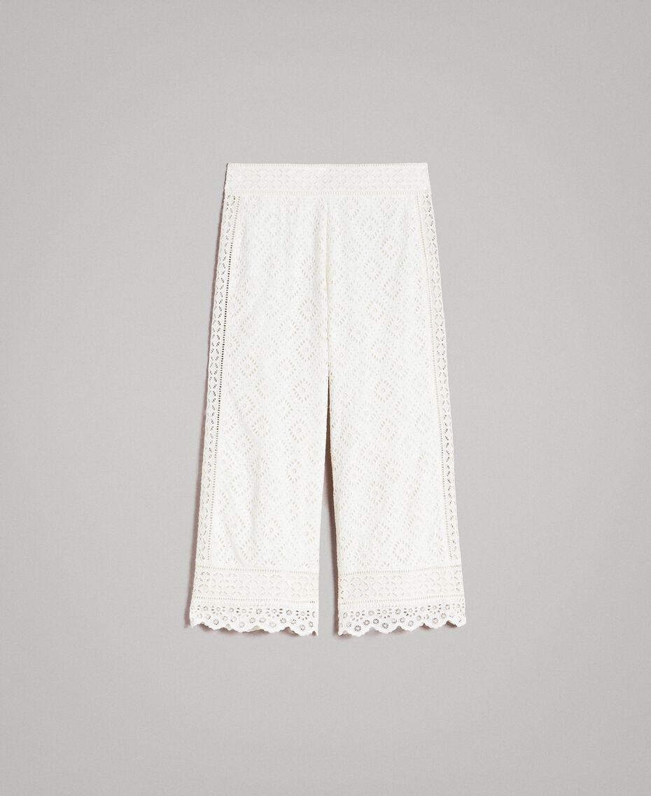 Broderie anglaise trousers White Snow Woman 191TT2045-0S