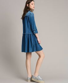 Abito chemisier svasato in denim Denim Blue Donna 191MP2412-03