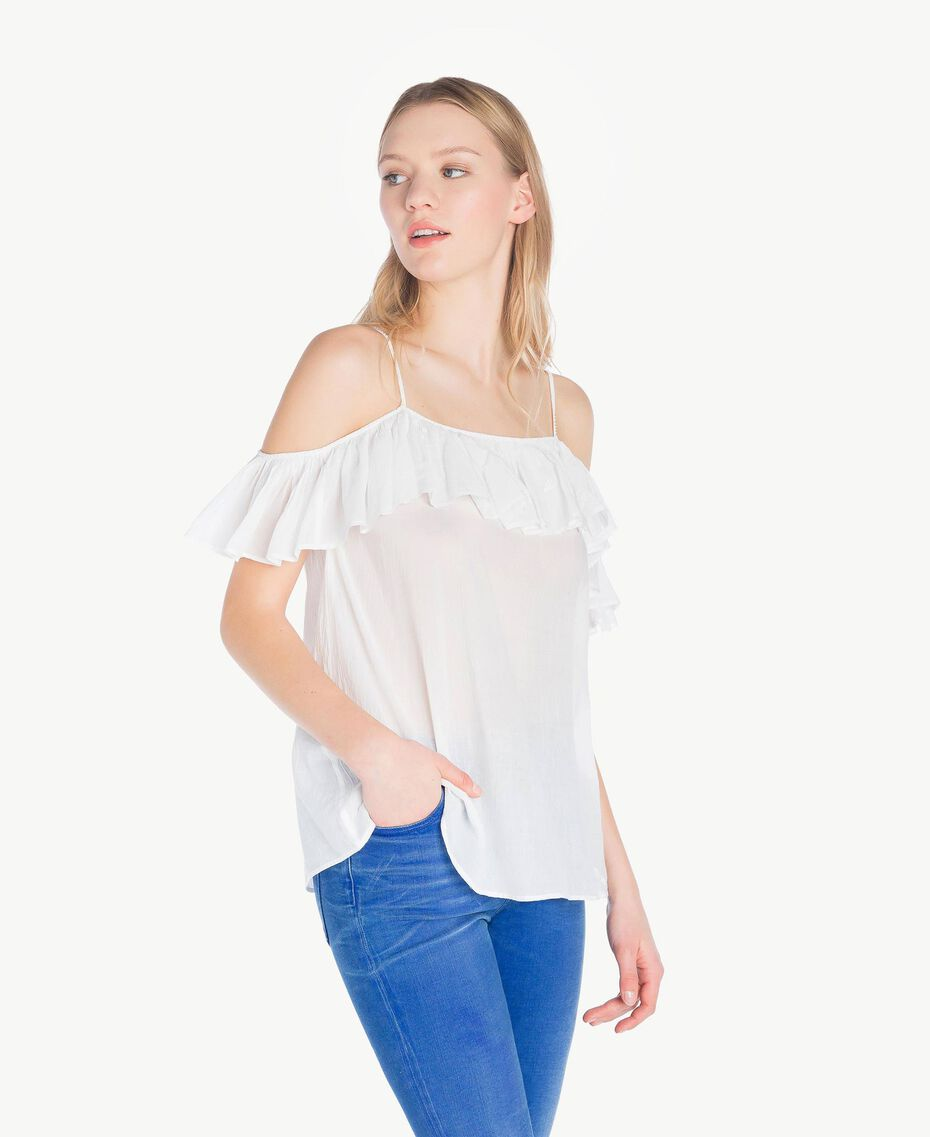 Top mousseline Off White Femme YS82HP-02