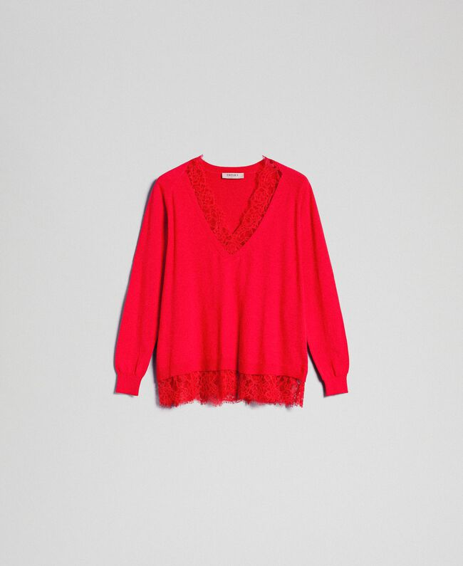 Top with lace Black Woman 192TP3161-0S