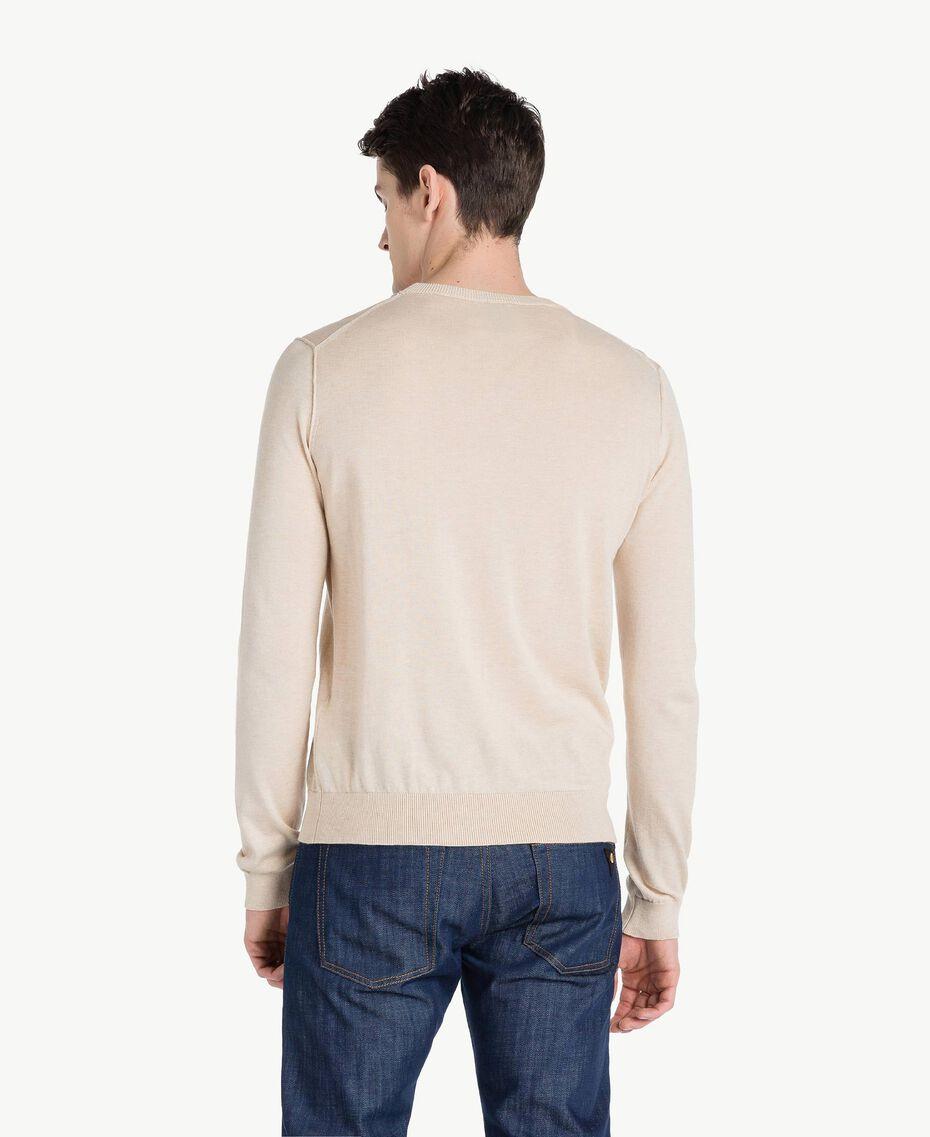 Cotton and cashmere jumper Beige Porcelain Man US831B-03