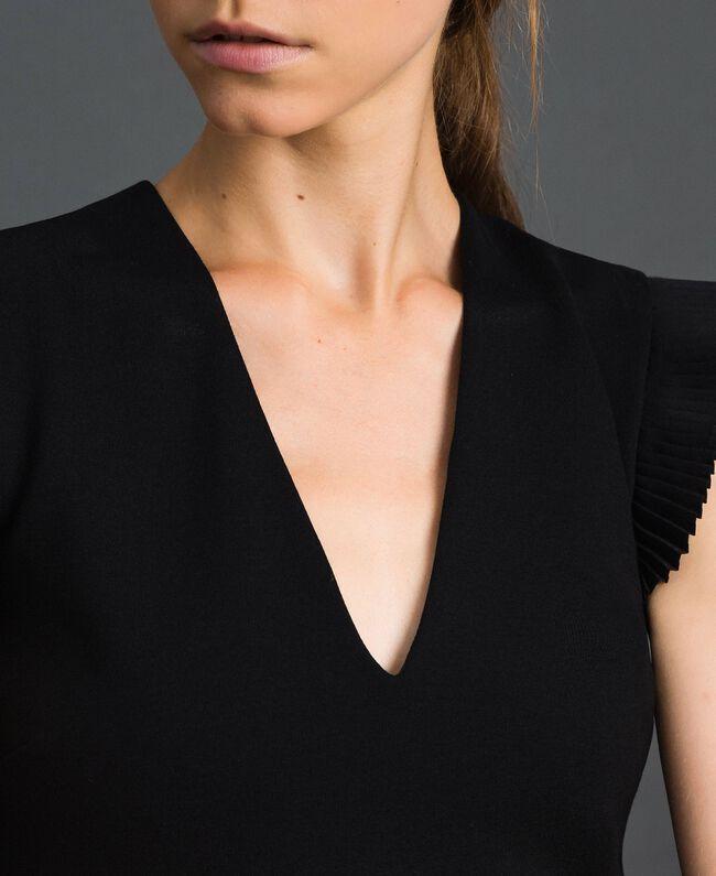 Robe avec détails plissés Noir Femme 192TT2061-04