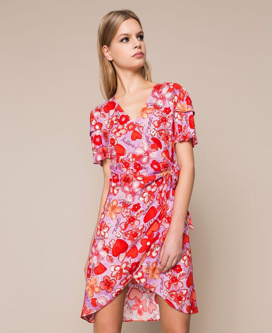 Floral print dress Reve / Rose Print Woman 201TQ2021-02