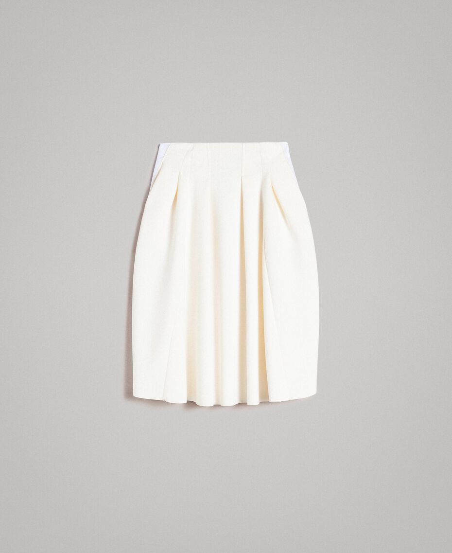 "Full scuba skirt ""Silk"" White Woman 191TP2065-0S"