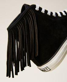 Sneakers de piel con flecos Cuero Mujer 212TCP100-05
