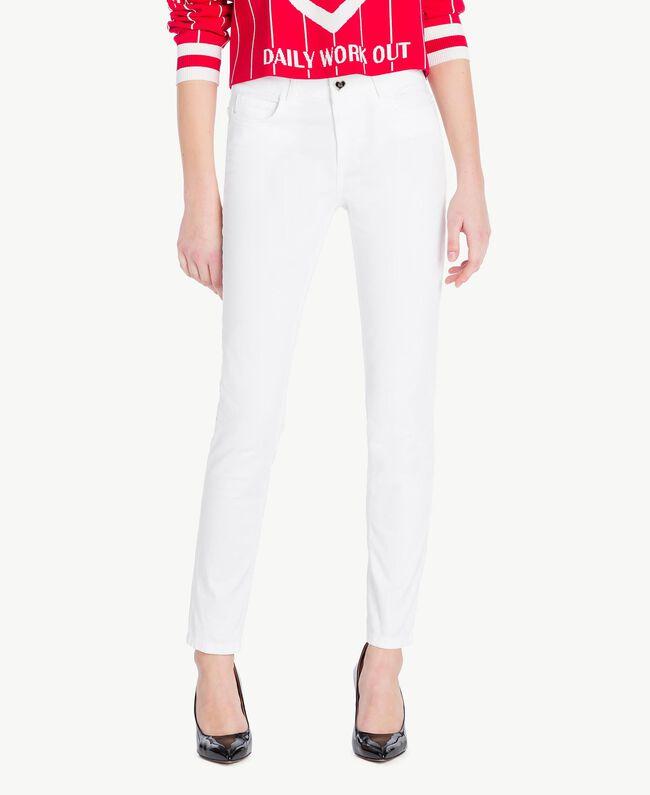 Pantalon skinny Blanc Femme JS82Z1-01