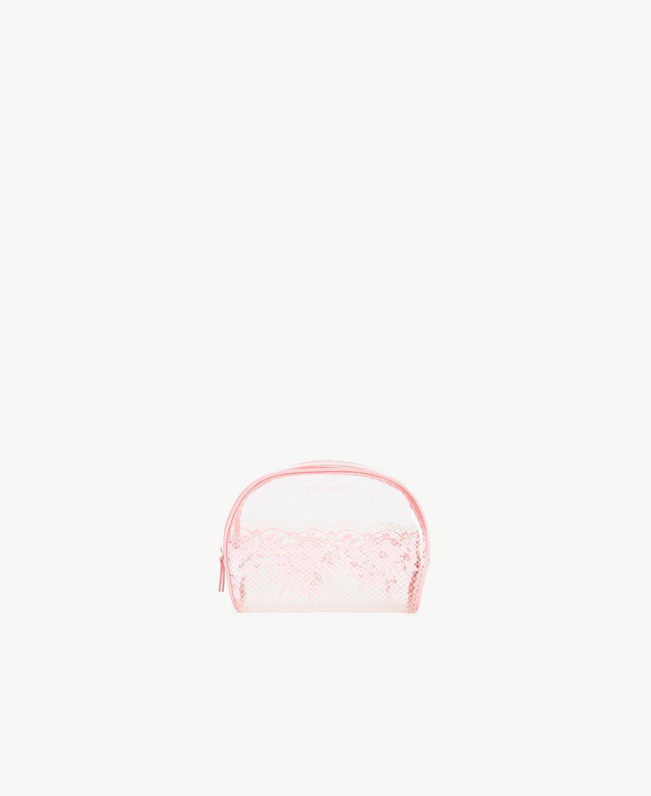 "Beautycase mit Spitzenprint Zweifarbig Pinkie Sugar / ""Peach Powder""-Rosa Frau LS8AHH-01"