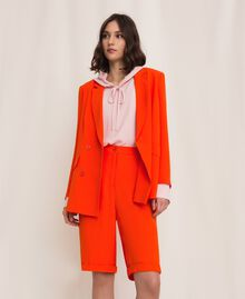 "Georgette blazer ""Ace"" Orange Woman 201LL2NHH-0T"
