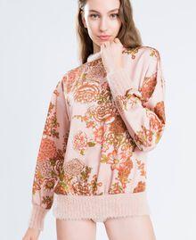 Blouse en twill avec imprimé floral Imprimé Rose Ballerines Fleur Femme LA8KPP-0S