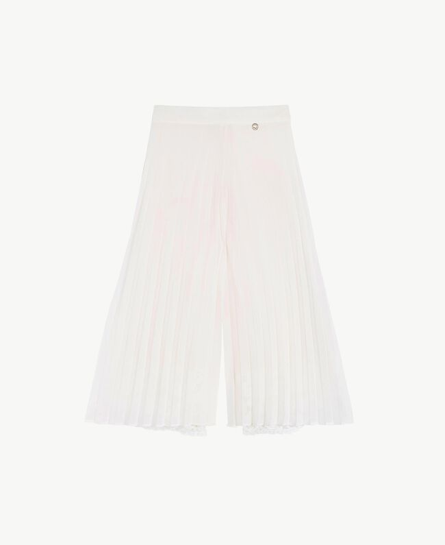 Pleated trousers Pale Cream Child GS8LDN-01