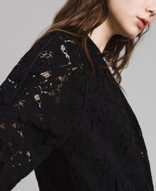Macramé lace bomber Black Woman 191TP2250-04