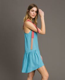 "Vestido mini color block Multicolor Rosa ""Tender Rose"" / Azul Daylight / Beige Porcelana Mujer 191LM2HMM-02"