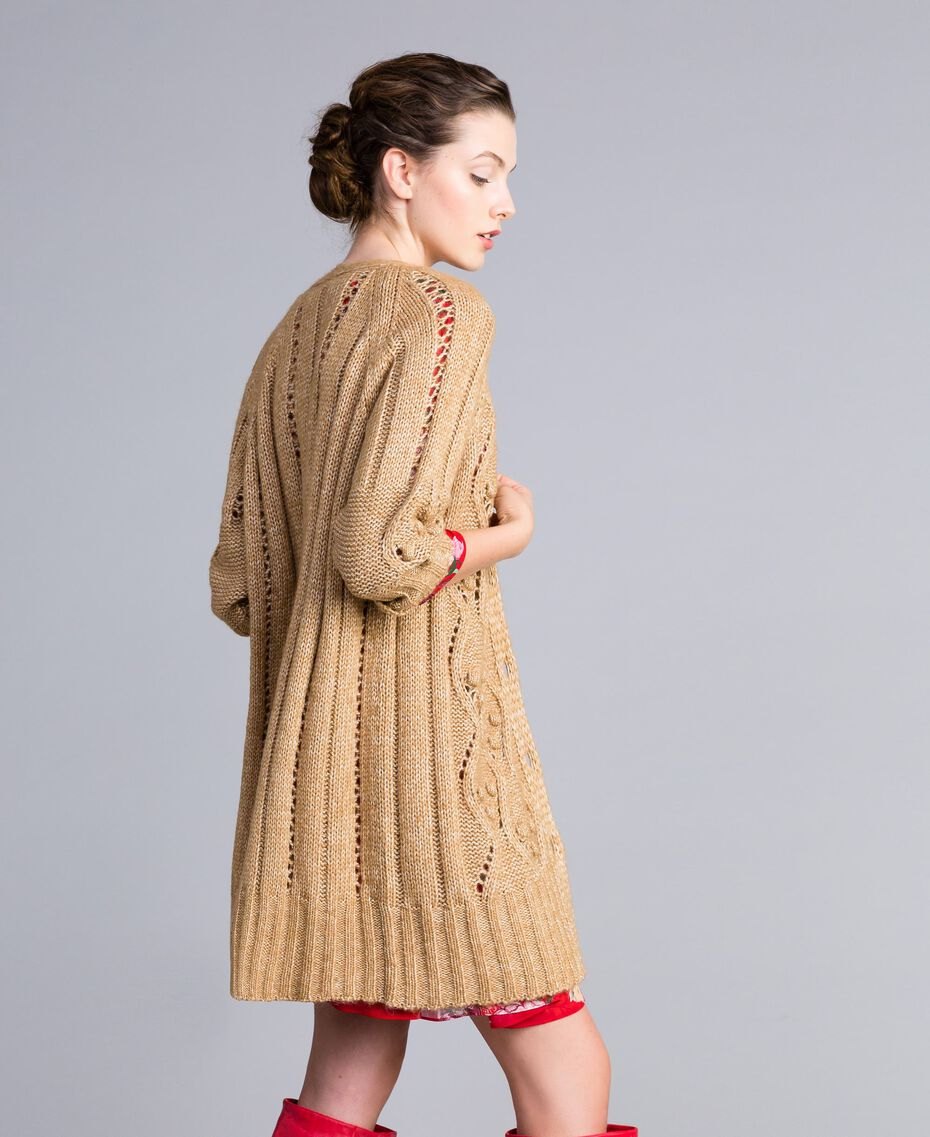 Maxi cardigan effetto mélange Camel Donna PA8372-02