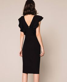 Sheath dress with frills Black Woman 201ST2149-04