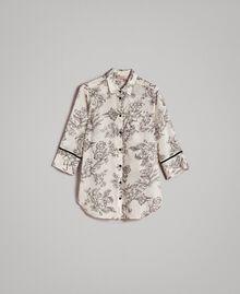 Hemd aus Seidenmischung mit Print Motiv Toile De Jouy Schwarz Frau 191TT2401-0S