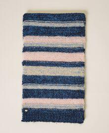Multicolour stripe scarf Blue Striped Multicolour Woman 202MA4335-03