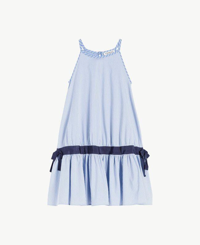 Kleid mit Streifen Jacquard Mix Bastoncini Kind GS82L2-01
