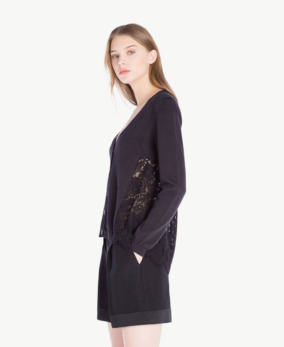 Lace cardigan Black Woman PS8372-02