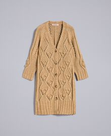 Maxi cardigan effetto mélange Camel Donna PA8372-0S