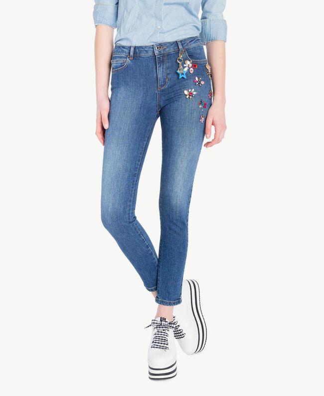 Skinny-Jeans Denimblau Frau JS82WD-01