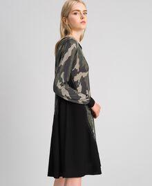 Abito in maglia stampata con inserti Stampa Camouflage Donna 192TT3341-03