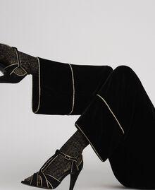 Pantaloni a palazzo in velluto Nero Donna 192TT2425-04