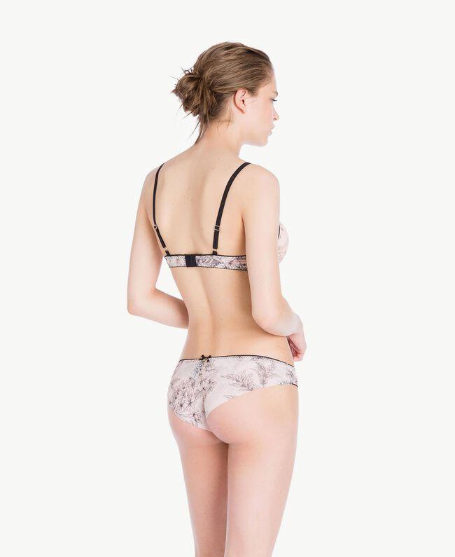 Tulle push-up bra Pinkie Sugar Macrofloral Print Woman LS8D44-04