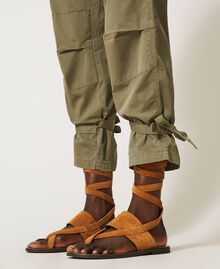 Pantalon cargo avec poches Vert Alpin Femme 211TT2652-05