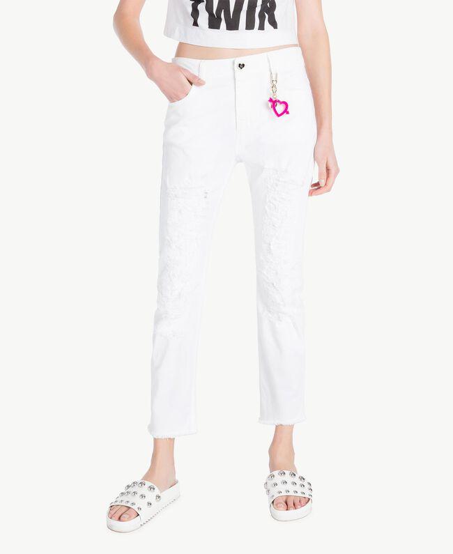 Girlfriend trousers White Woman YS82ZP-01