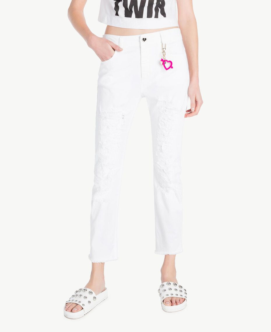 Girlfriend trousers White Woman YS82ZP-01