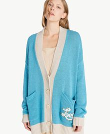 Cardigan over Blu D'Oriente Donna PS83L2-04