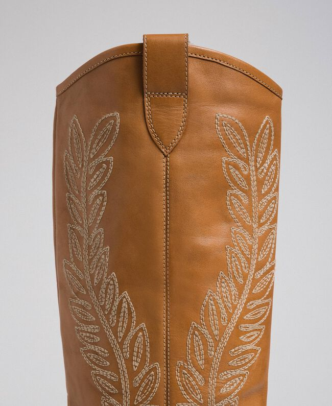 Texas boots with embroidery Tobacco Woman 192TCT06A-04