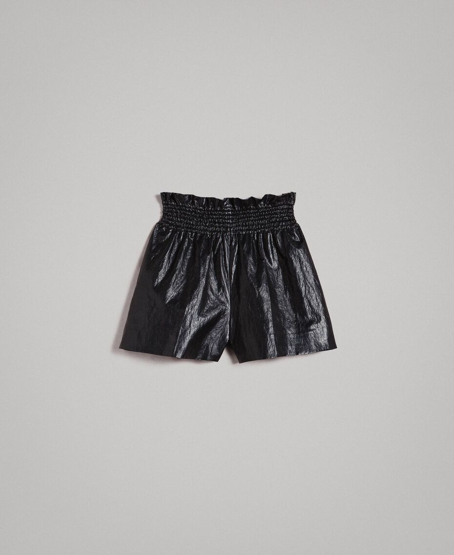 Shorts in similpelle Nero Donna 191TP2551-0S