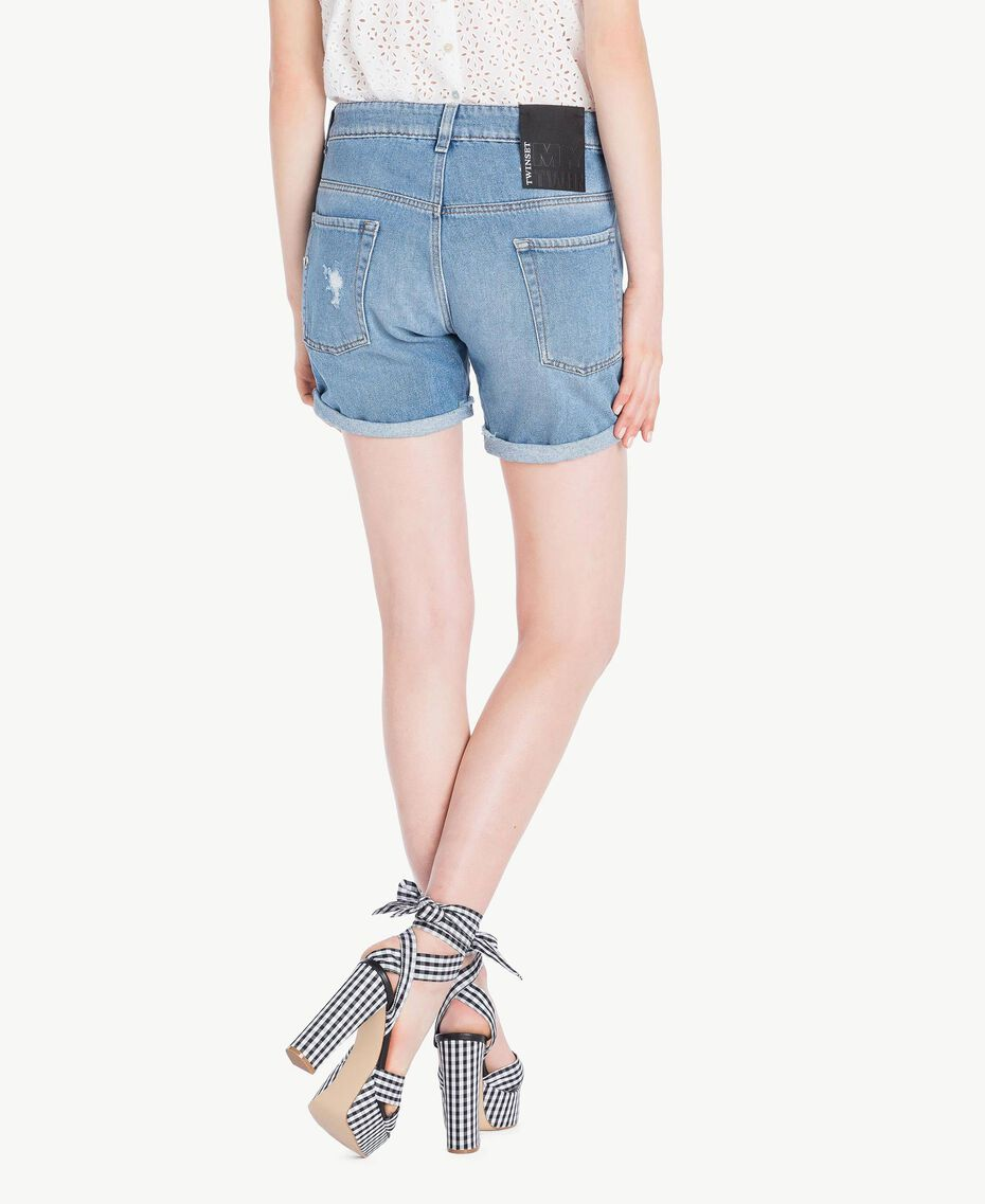 Denim shorts Denim Blue Woman YS82Q7-03