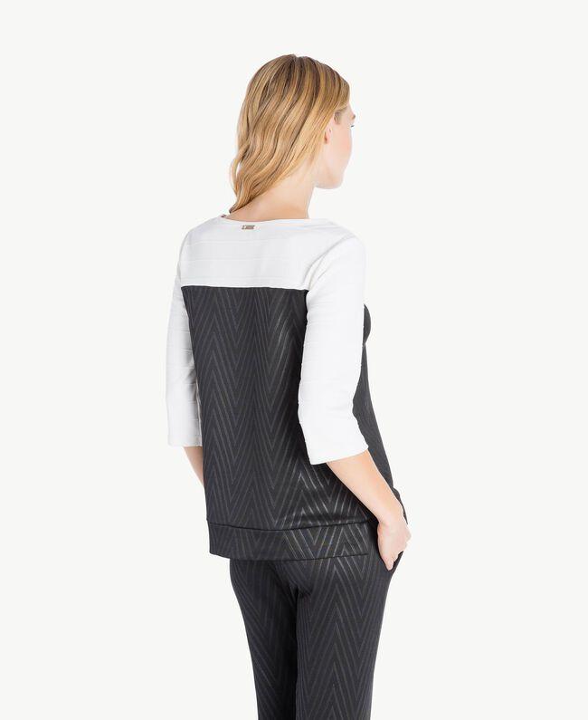 Laminated print sweatshirt Black / Ivory IA7SDD-04